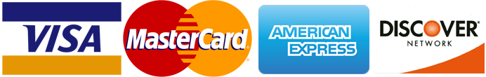 payment options - major credit cards